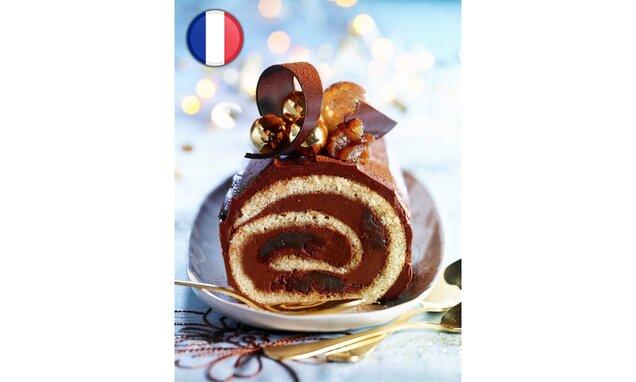 Ruladă de Crăciun cu ciocolată și castane